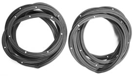 WEATHERSTRIP,  68-74 NOVA 4 DOOR SEDAN FRONT PAIR