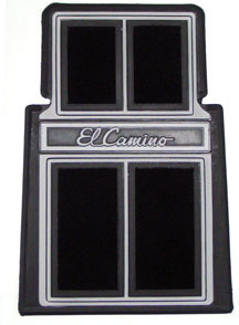 FLOOR MATS, EL CAMINO WITH SCRIPT LETTERING 2 PC