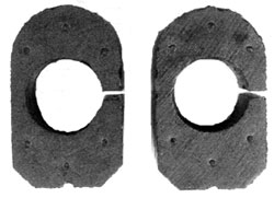 BUSHINGS, 65 FRONT SWAY BAR WITH 396 - 2PC