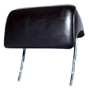 HEADREST, 66-67 CHEVELLE AND EL CAMINO BUCKET SEAT BLACK - PAIR