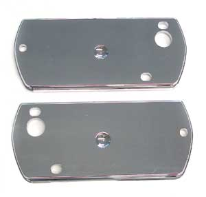 PLATE, 68 CHEVELLE / EL CAMINO ARM REST BASE CHROME - PAIR