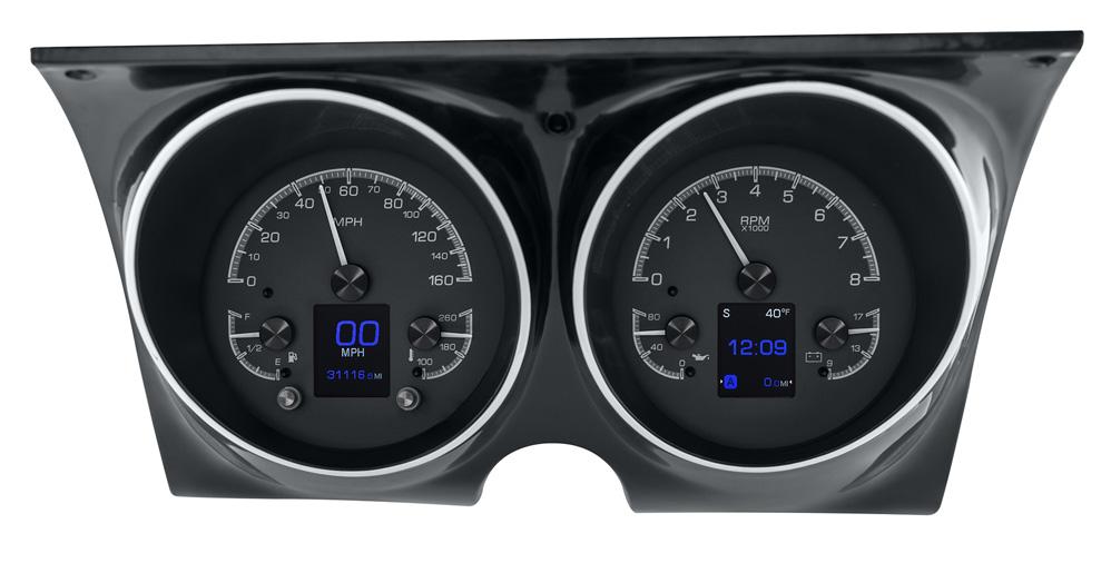 dakota digital gauges 1967 1968 camaro without console gauges dakota digital hdx gauges. Black Bedroom Furniture Sets. Home Design Ideas
