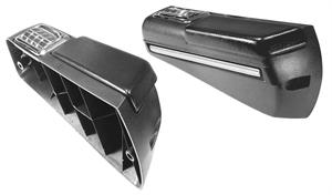 BASE, 68-69 REAR ARM REST, PAD & ASH TRY PR (W/CHROME ON BASE)