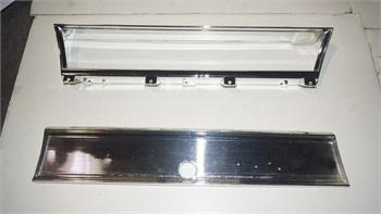 BEZEL, 67 CHEVELLE EL CAMINO GLOVE BOX TRIM AND DASH - USED RECHROMED