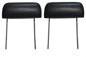 HEADREST, 70-72 CHEVELLE AND EL CAMINO BUCKET SEAT BLACK - PAIR