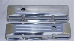 VALVE COVERS, POLISHED ALUMINUM-SMALL BLOCK-TALL-PAIR