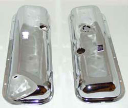 VALVE COVER, BIG BLOCK OEM WITH POWER BRAKE CHROME WITH DRIPPER PR