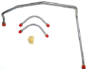 FUEL LINE, 69 CHEVELLE/EL CAMINO 396-375HP (3PC) STAINLESS