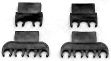 RETAINER, BLACK PLASTIC SPARK PLUG WIRE BIG BLOCK - 4 PIECE