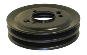 PULLEY, 65-68 BIG BLOCK CRANKSHAFT 2 GROOVE GM - DEEP GROOVE HP